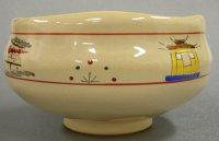 画像1: 【茶道具】 茶碗 赤膚焼 奈良絵 お水取り  *大塩昭山窯*  松明