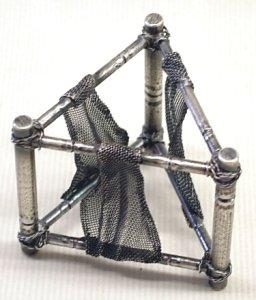 画像1: 【茶道具】 蓋置 毛織 網干  *あぼし*干網*モール*モオル*モウル*唐銅 (1)