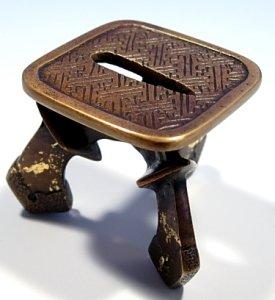 画像1: 【茶道具】 蓋置 唐銅 太刀 鍔  *つば*鐔 (1)