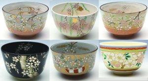 画像1: 【茶道具】 茶碗 桜 (各種)  *橋本永豊*   (1)