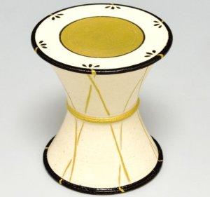 画像1: 【茶道具】 蓋置 鼓  *今岡三四郎*  祭・楽器 (1)