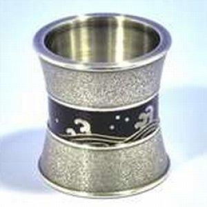 画像1: 【茶道具】 蓋置 唐銅 金胎漆 螺鈿 波濤  *喜多庄兵衛*   (1)
