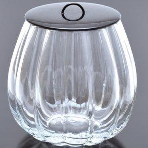 画像1: 期間限定【茶道具】 水指 義山 輪花   *硝子*びいどろ*ガラス (1)
