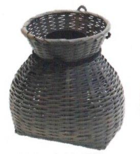 画像1: 【茶道具】 花入 四万十川籠   (1)